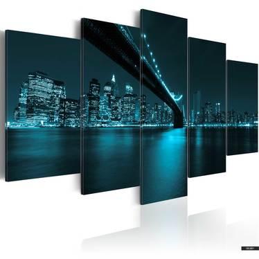 Wandbild KÜHLE NEW YORK NACHT 200x100 cm