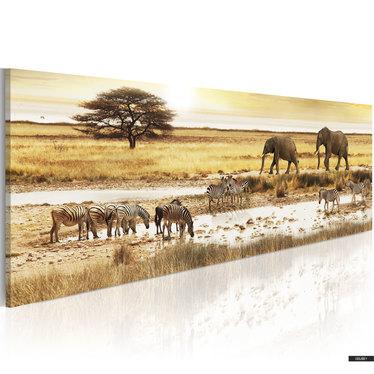 Wandbild WASSERTRÄNKE 120x40 cm