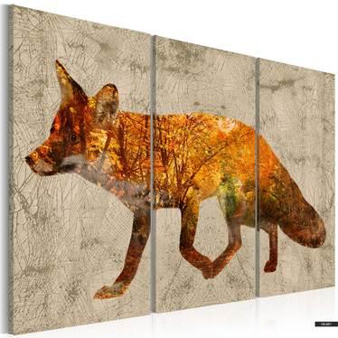 Wandbild FOX IN THE WOOD 120x80 cm