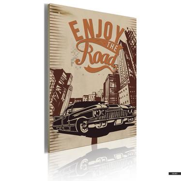Wandbild ENJOY THE ROAD 50x70 cm