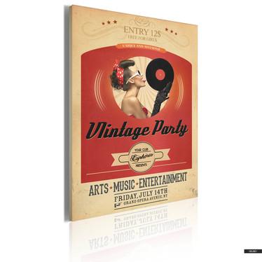 Wandbild VINTAGE PARTY 50x70 cm
