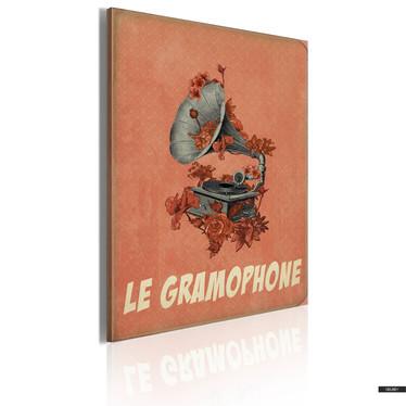 Wandbild LE GRAMOPHONE 50x70 cm