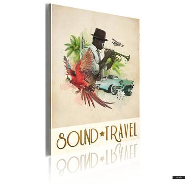 Wandbild SOUND&TRAVEL 50x70 cm