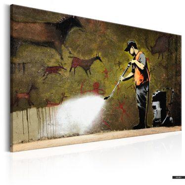 Wandbild CAVE PAINTING by Banksy 90x60 cm