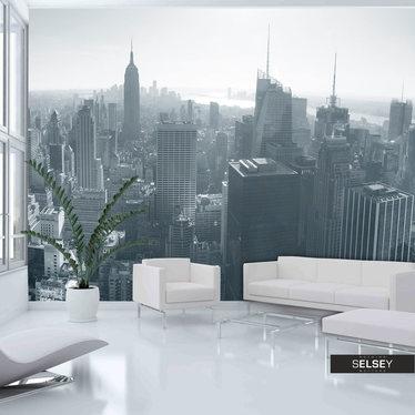 Fototapete PANORAMA NEW YORK schwarz-weiß