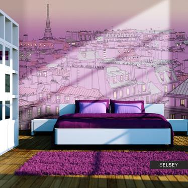 Fototapete PARIS IN PINK – ZEICHNUNG