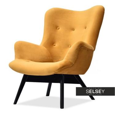 Sessel FLORI honiggelb/schwarz