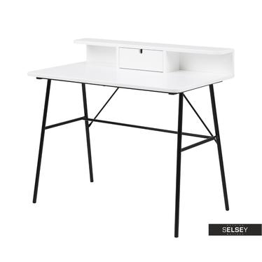 Schreibtisch BROVA mit Ablage, 100 cm breit