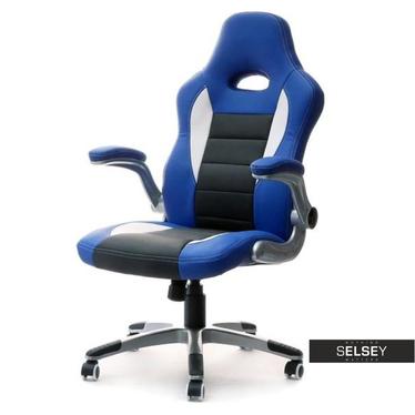 Gaming Drehstuhl RACER III blau/schwarz/weiß