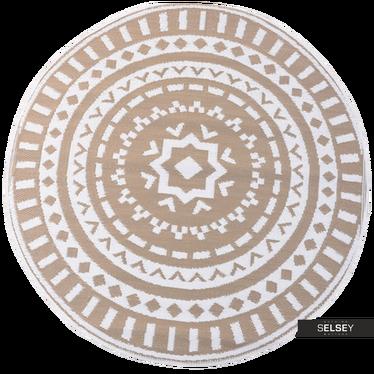Teppich OUTDOOR EARTH beige 150 cm rund