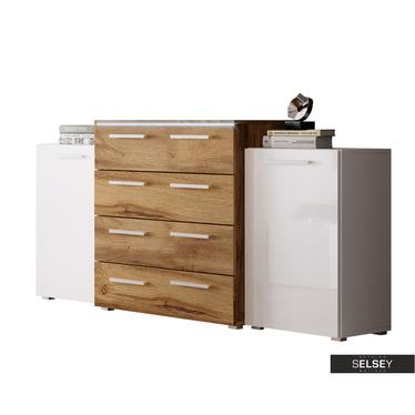 Sideboard MOLLIT 2-türig mit 4 Schubladen