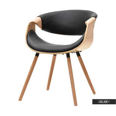 Stuhl BENTIAL Eiche/schwarz