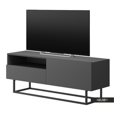 TV-Lowboard BUGAR mit Metallgestell und Schublade 120 cm