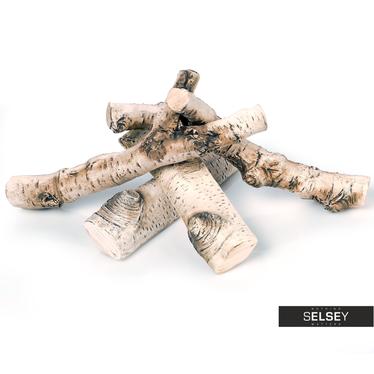 Deko-Holzscheite aus Keramik