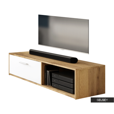 TV-Lowboard ROLLO matt mit Klapptür 140 cm