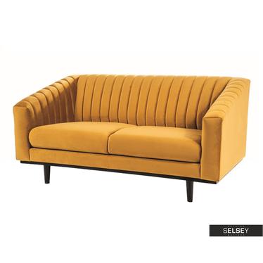 Sofa ASPORS gelb mit Veloursbezug