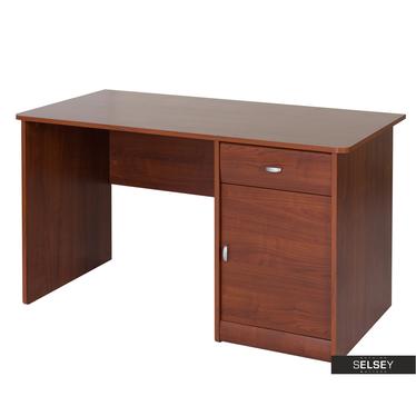 Schreibtisch DERLINGS dunkle Holzoptik
