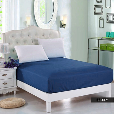 Spannbettlaken PENNY blau 160x200 cm