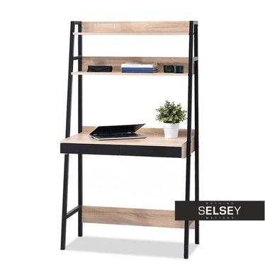 Schreibtisch BERG in Leiteroptik schwarz/Sonoma Eiche