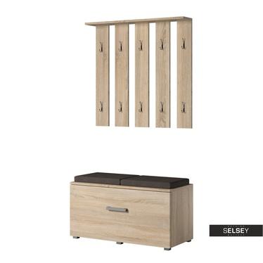 Garderoben-Set GASRO in Holzoptik mit Sitzbank