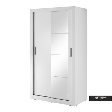 Kleiderschrank LUGAROS 120 cm mit Spiegel, optional mit LED