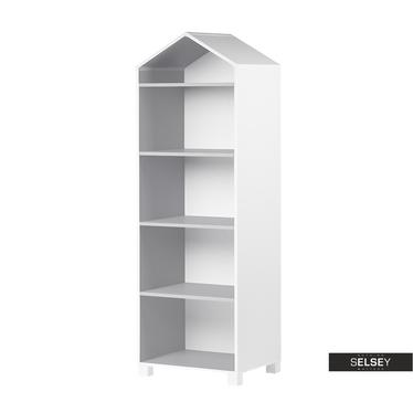 Bücherregal MIRUM weiß / grau für Kinderzimmer