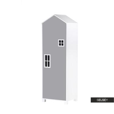 Kinderschrank VESPE grau 152 cm hoch