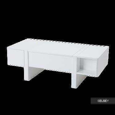 Couchtisch RENGE 120x60 cm weiß mit Stauraum