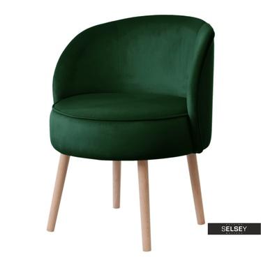 Sessel GRUU dunkelgrün mit runder Lehne
