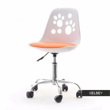 Schreibtischstuhl FOOT weiß/orange