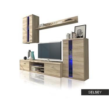 Wohnwand ALBA 4-teilig mit LED optional