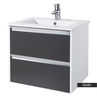 Waschbeckenunterschrank ANTARI Graphitgrau 60 cm breit