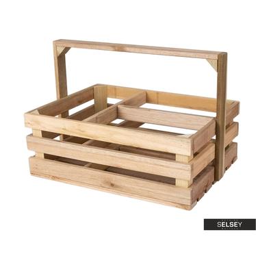 Holzkiste LUCYPIO mit Griff dreigeteilt