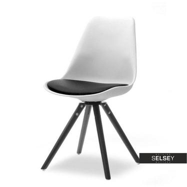 Drehstuhl LUIS ROT schwarz/weiß