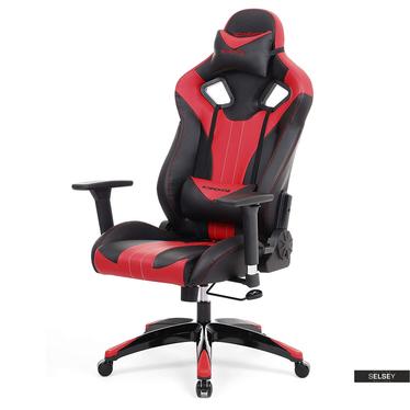 Gaming Stuhl MANJARAN FIRE schwarz/rot