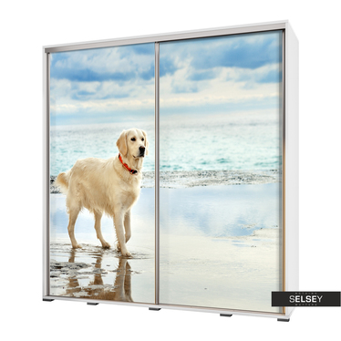 Kleiderschrank VENEDIG 205 cm Hund am Meer