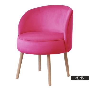 Sessel GRUU pink mit runder Lehne