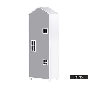Kinderzimmerschrank VESPE grau 172 cm hoch