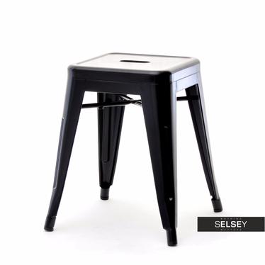 Metallhocker ALFREDO schwarz