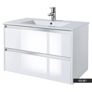 Waschbeckenunterschrank ANTARI Weiß 80 cm breit