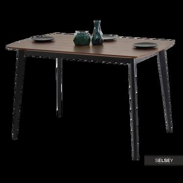 Esstisch BELEN Nussbaum/schwarz 120x75 cm