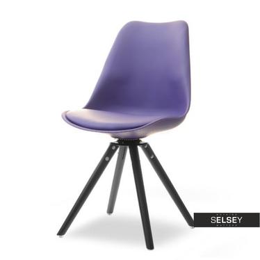 Drehstuhl LUIS ROT violett/schwarz