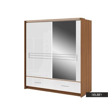 Kleiderschrank PRIMKER 203 cm mit Spiegel