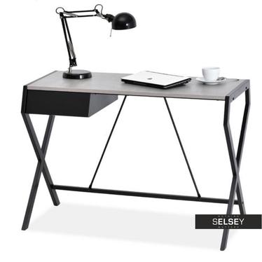 Schreibtisch DESIGNO Betonoptik mit Schublade