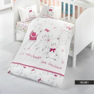 Bettwäsche LA PETITE TROUPE 100 x 150 cm für Kinder