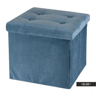 Pouf VELS blau mit Stauraum