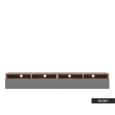 TV-Lowboard REDNAW mit 2 Schubladen, 200 cm