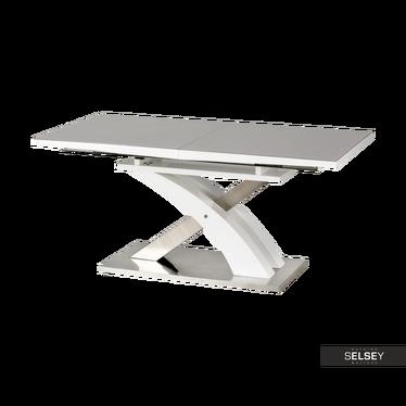 Ausziehtisch REINOSA grau mit Glastischplatte 160-220x90 cm