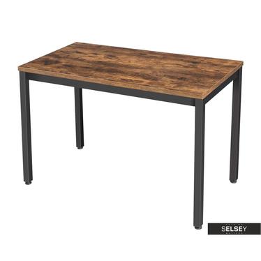 Schreibtisch RAMIZU in rustikaler Holzoptik 120 cm