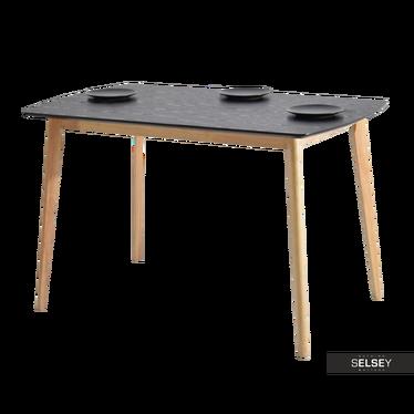 Esstisch BELEN schwarz/Eiche 120x75 cm